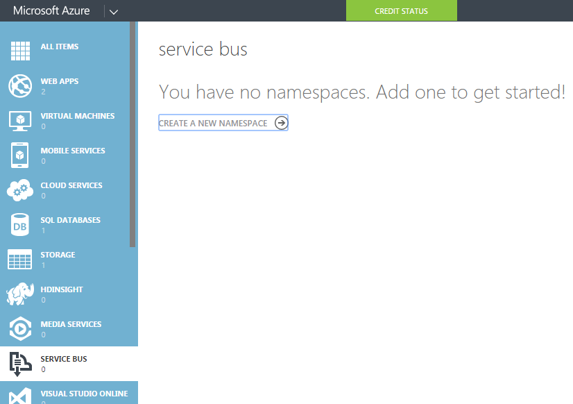 Create new Service Bus view