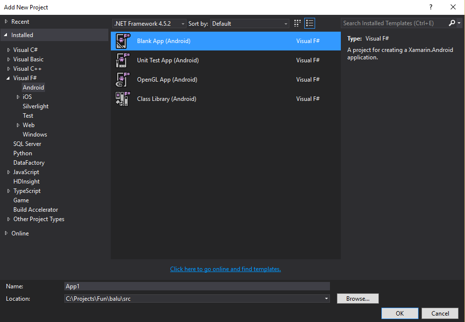 Starting Xamarin Android application development with F#